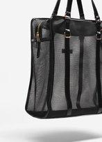 MANGO Mesh pattern shopper bag