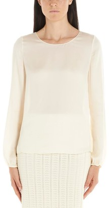 Theory Blouson Sleeve Shift Blouse