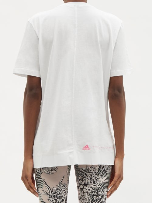 Thumbnail for your product : adidas by Stella McCartney Logo-print Organic Cotton-jersey T-shirt - White