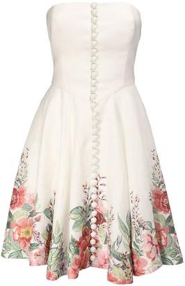 Zimmermann Bellitude Floral Print Linen Mini Dress