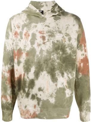 Nike Tie-Dye Print Pouch Pocket Hoodie