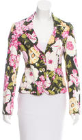 RED Valentino Notched Floral Print Jacket