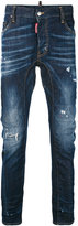 DSQUARED2 denim slashed knee jeans