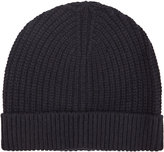 Reiss Reiss Milton - Ribbed Beanie Hat In Blue