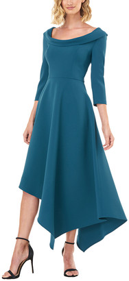 Kay Unger Arianna Stretch Crepe Cocktail Dress