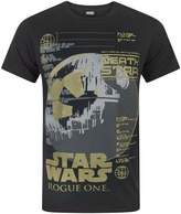 Star Wars Rogue One Metallic Death Star Men's T-Shirt (XXL)