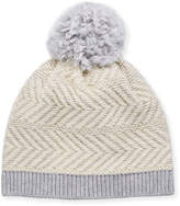 UGG Knit Wool-Blend Beanie Hat w/ Yarn Pompom