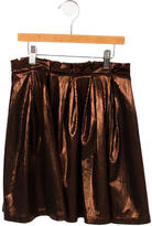 Morley Girls' Pleated Metallic Skirt w/ Tags