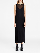DKNY Dress With Sheer Jersey Inserts