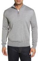Peter Millar Men's Wool Blend Quarter Zip Sweater