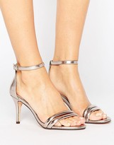 Head Over Heels By Dune Mimosa Rose Gold Heeled Sandals