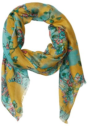 Patricia Nash Scarf (Coral Bouquet Print) Scarves