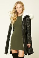 Forever 21 FOREVER 21+ Faux Fur Trim Hooded Parka