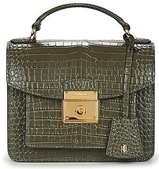 Lauren Ralph Lauren HERITAGE LOCK BECKET SATCHEL SMALL women's Handbags in Grey
