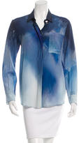 Roseanna Pritned Silk Button-Up Top w/ Tags