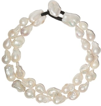 Monies Jewellery Double Pearl Necklace