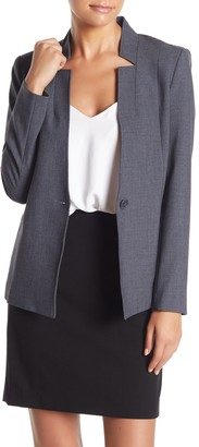 Amanda & Chelsea Inverted Collar Blazer (Petite)