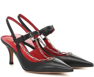 Valentino leather slingback pumps