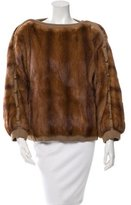 J. Mendel Mink Fur Bateau Neck Sweater
