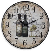 Bed Bath & Beyond French Wine Bottles Wall Clock