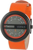 Versus By Versace Women's SGI010013 Osaka Black Ion-Plated Stainless Steel Orange Leather Band Watch