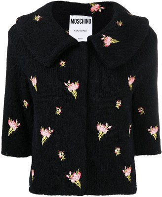 Moschino Floral-Embroidered Jumper