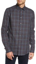 Sand Men's Trim Fit Plaid Sport Shirt