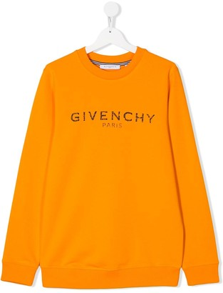 Givenchy Kids TEEN cracked logo sweatshirt