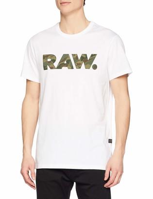G Star Men's Graphic 53 T-shirt White (White 110) XX-Large