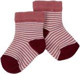 Petit Bateau Striped Socks (Toddler/Kid) - Pink/White-19/20