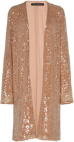 Sally LaPointe Sequined Crepe Jacket