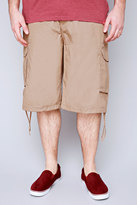 Yours Clothing NOIZ Light Brown Cotton Cargo Shorts With Pockets