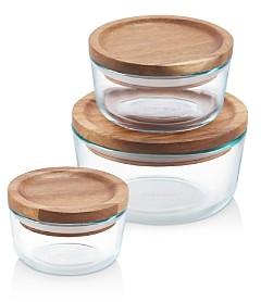 Pyrex Wooden Storage 6-Piece Set