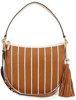 MICHAEL Michael Kors Brooklyn Tasseled Striped Medium Hobo Bag