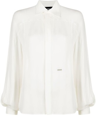 DSQUARED2 Silk Button-Up Shirt