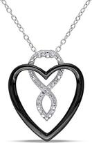 Ice Diamond Sterling Silver Heart Pendant Necklace with Chain