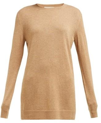 Bottega Veneta Round Neck Cashmere Sweater - Womens - Camel