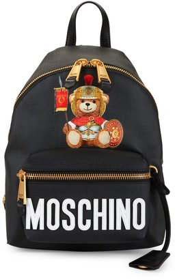 Moschino Roman Teddy Bear Faux Leather Backpack