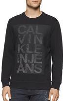 Calvin Klein Jeans Mesh Logo Graphic Printed Sweatshirt
