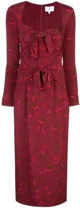 Rebecca De Ravenel Zaza abstract-print dress
