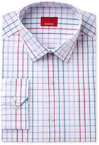 Alfani Men's Slim Fit Stretch Berry Blue Triple Check Dress Shirt, Only at Macy's