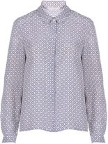 Stefanel Printed Silk Shirt