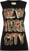 Denim & Supply Ralph Lauren Sleeveless floral NYC printed tee