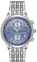 Citizen Eco-Drive World Chronograph A-T Stainless Steel Bracelet Watch