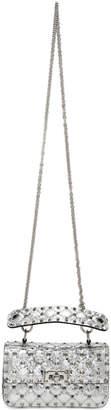 Valentino Silver Garavani Small Rockstud Spike Bag