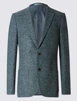 Marks and Spencer Tailored Fit Wool Blend Jacket