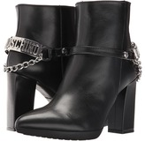 Love Moschino Ankle Boot with Heel Chain Logo