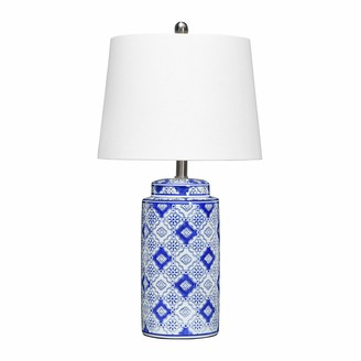 Creative Co-op Chinese Ginger Jar Inspired Ceramic Table Lamp