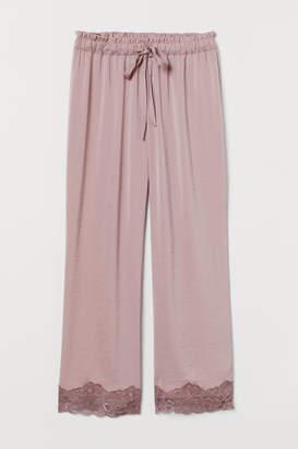 H&M Satin pyjama bottoms