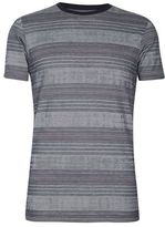Burton Mens Grey Texture Stripe T-Shirt